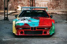 In French racecar driver Herve Poulain asked American artist and personal friend to paint his BMW CSL race car, which Poulain drove in. Ford Sport, Aston Martin Db2, Bmw M1, Mario Andretti, Carroll Shelby, Racing Team, Bmw Cars, Vintage Racing, Andy Warhol