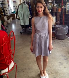 Taghrid wears the new Sun Dress by #AmericanApparel