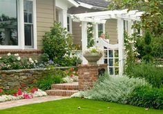 Garten Landschaftsbau mit Ziegeln – 15 tolle Gartengesteltung Ideen - garten landschaftsbau vorgarten gestalten mit ziegeln