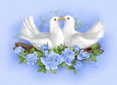 Birds Photo by Purplecalalilies Penny Parker, Bonnie Parker, Love Birds, Beautiful Birds, Dove Images, White Doves, Vintage Love, Bird Art, Beautiful Paintings
