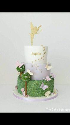 Beautiful Image of Fairy Birthday Cake . Fairy Birthday Cake Fairies Theme Butterfly Cake Birthday Cake For Girls Fairy Tinkerbell Birthday Cakes, Garden Birthday Cake, Fairy Birthday Party, Cool Birthday Cakes, Birthday Cake Girls, Tinkerbell Party, 4th Birthday, Birthday Ideas, Fairy Garden Cake