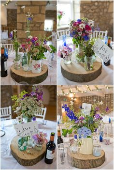 wildflowers - love the table settings