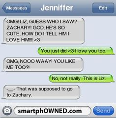 Jenniffer | OMG! LIZ, GUESS WHO I SAW? ZACHARY! GOD, HE'S SO CUTE, HOW DO I TELL HIM I LOVE HIM!!!!