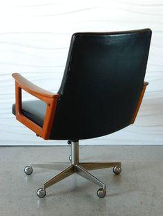 Exceptional Mid Century Modern Danish Teak Desk Chair In The Style Of Arne .