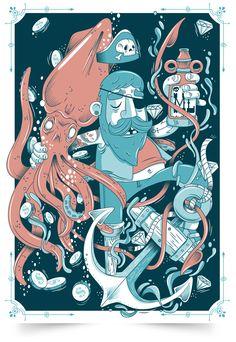 :: Sea Life :: by Mr. Lemonade / Gabo , via Behance