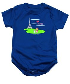 Purchase a baby onesie featuring the image of Cathy And The Cat In Paris by Laura Greco.  Available in sizes S - XL.  Each onesie is printed on-demand, ships within 1 - 2 business days, and comes with a 30-day money-back guarantee.