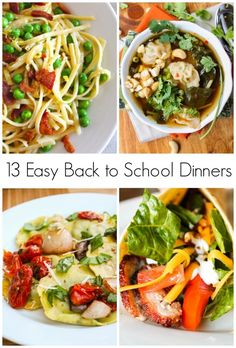 13 of my favorite easy dinners to make when I'm on a time crunch. Fast, easy, and something the kids will eat. Hallelujah.