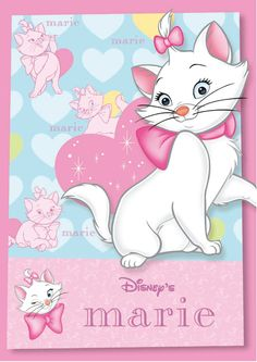 Disney's Marie Vector Disney And More, Disney Pixar, Minnie, Mickey Mouse, Looney Tunes Wallpaper, Marie Cat, Gata Marie, Cartoon Background, Cute Stories
