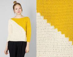 Ville ønske at der var en opskrift, denne bluse er meget enkel og smuk! Bag Crochet, Crochet Diy, Crochet Woman, Crochet Cardigan, Love Crochet, Crochet Clothes, Crochet Hooks, Crochet Fashion, Pull