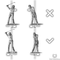 Remember to shift weight towards the back/right foot during the backswing and towards the front/left foot during the downswing and onward. This is in contrast to shifting weight in the exact opposite way, a swing error known as the reverse pivot.