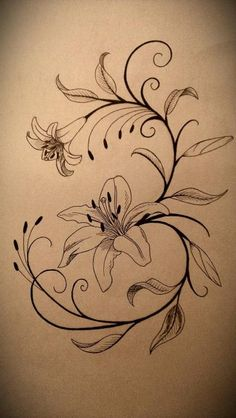 Lily Tattoo Design by fallenangel0717                                                                                                                                                     More
