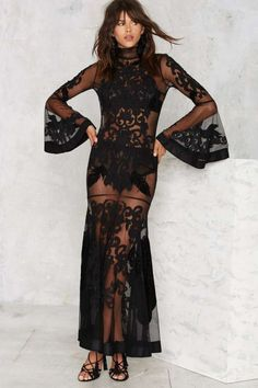 Nasty Gal Bell It to the Judge Damask Dress - Valentine's Day | Party Shop | Best Sellers | Midi + Maxi | Dresses