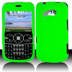 LG 900G for Stright Talk  Net 10 Accessory - Rubber Green Hard Case Proctor Cover