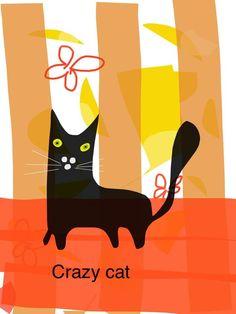 gatto matto fatto da me... pinned with Pinvolve