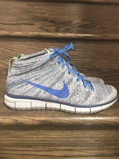 more photos 59e19 0b962 Mens Nike Flyknit Chukka Run GreyBlue Shoes Sz. 9.5 ID 639700-