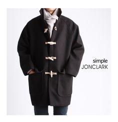 오버사이즈 모직 떡볶이코트(머플러포함)-coat37 - [존클락]30대 남자옷쇼핑몰, 깔끔한 캐쥬얼 데일리룩, 추천코디