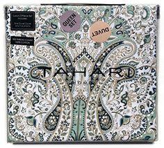 Tahari Home Cotton 3 Piece Full Queen Quilt Set Reversible