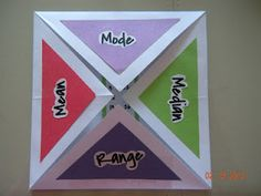 Mean, median, mode foldable
