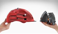 Overade Foldable Bike Helmet :: More like, to wrap around my brain... but you get the picture.