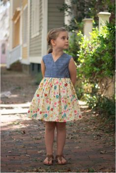 Violette Field Thread, Olive Dress and Top, 2-10 ans