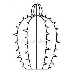 Letöltés - Virágzó kaktusz ikon, vázlat stílusában — Stock Illusztráció #143596671