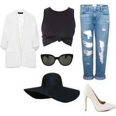 My First Polyvore Outfit by lightbluefashion on Polyvore featuring polyvore fashion style Zara Frame Denim Qupid Oliver Peoples