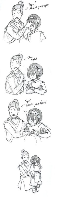 Good solution Sokka; until you have to put her down and she Earthbends a rock at your face