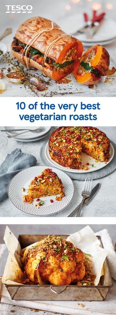 Get ready for a sensational seasonal roast with one of these veggie-friendly recipes. Keep it traditional with an extra-creamy cauliflower cheese side dish or add some spice to your centrepiece for a Middle Eastern-inspired crowd-pleaser. Vegetable Recipes, Vegetarian Recipes, Cooking Recipes, Healthy Recipes, Vegetarian Roast Dinner, Vegetarian Christmas Recipes, Healthy Facts, Veggie Meals, Creamy Cauliflower