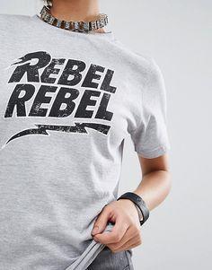 Daisy Street | Daisy Street Relaxed T-Shirt With Rebel Print
