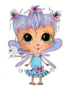 INSTANT DOWNLOAD Digital Digi Stamps Big Eye Big Head Dolls NEW Bestie  Sugar Bug Fairy My Besties By Sherri Baldy
