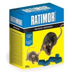 Návnada RATIMOR® Brodifacoum wax blocks, 300 g, parafínové kocky Wax, Animals, Products, Animales, Animaux, Animal, Animais