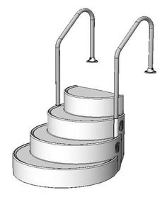 the step above ground drop in two rails the step has proven to be efficient