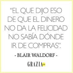 Será todo lo que queráis... Pero Blair Waldorf era también una sabia  #GossipGirl