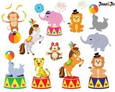 circus digital clip art clipart set by collectivecreation on etsy rh pinterest com circus clipart borders cirque clipart