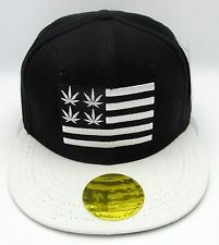 0e15bc06990 MARIJUANA Leaf Flag Snapback Cap Hat 420 Pot THC Cannabis Weed Dope Black  NWT  14.99 Buy It Now Free shipping