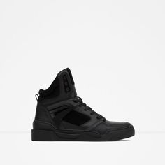 Image 1 of FAUX FUR LINED HIGH-TOP SNEAKER from Zara