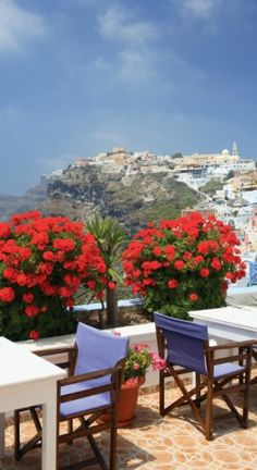 Cafe view in Santorini, Greece • photo: Fan Flou on Picasaweb