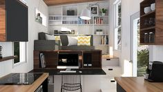 This place looks really well thought-through for a work from home, one-person place