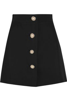 Black cady Button fastenings through front 100% viscose; lining: 100% polyester Dry clean Made in Italy