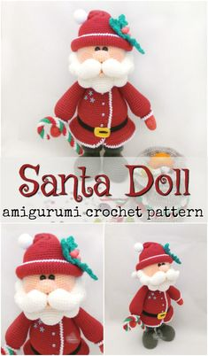 Sweet Handmade Holiday Stuffies This Santa amigurumi crochet pattern looks just like the Santa from the claymation Rudolf the Red Nosed Reindeer! What a great looking pattern! Crochet Santa, Crochet Amigurumi, Christmas Crochet Patterns, Holiday Crochet, Crochet Toys Patterns, Crochet Gifts, Amigurumi Doll, Amigurumi Patterns, Stuffed Toys Patterns