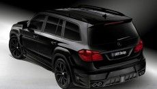 THE LARTE DESIGN MERCEDES GL BLACK CRYSTAL HAS A DISTINCTIVE FRONT FASCIA WITH AN ENLARGED GRILLE AND LED DAYTIME RUNNING LIGHTS