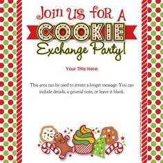#Christmas #Cookie #Exchange #Party #Invitation designed by Jeannie L Dickson on pingg.com