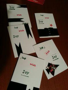 Hanna's very simple christmas cards