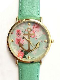 Mint Anchor Watch