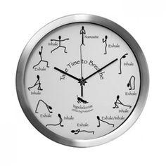 Take Time to Breathe Yoga Clock Large Aluminum
