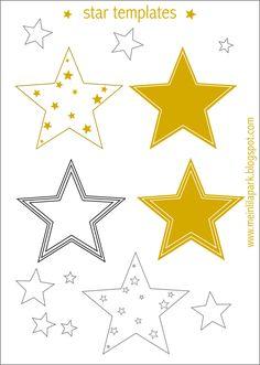 MeinLilaPark – DIY printables and downloads: Free printable star templates + 16 last-minute DIY christmas decorations - Weihnachtsdekorationen