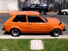 Toyota Starlet looking nice.  #toyota #starlet #oldschool #jdm #oldschool jdm #classic Japanese cars #custom #braggenrites