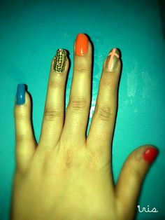 Crazy/ colourful nails