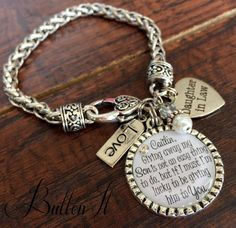 Daughter In Law Bracelet Future Bride By Buttonit Gifts