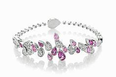 Mont Blanc: Princesse Grace de Monaco Bracelet- diamonds and pink sapphires